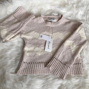 Chenille Kendall+Kylie mock neck sweater